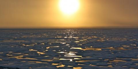 Sunset in the Arctic (Chukchi Sea)