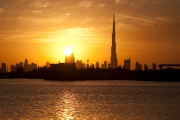 Sunset Over Downtown Dubai