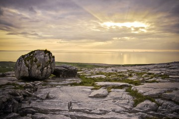 Sunset Over Galway Bay in Clare, Ireland