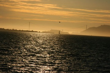 Sunset Over the Golden Gate Bridge, San Francisco