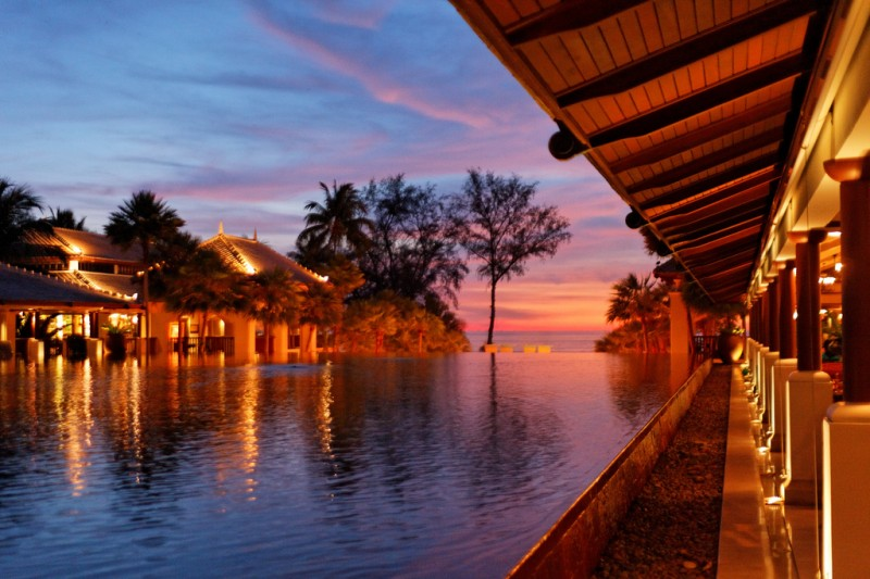 Sunset at JW Marriott Phuket Resort & Spa, Mai Khao Beach, Phuket, Thailand