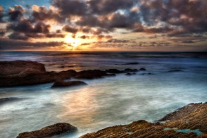 Sunset on the Bluff Trail at Montaña de Oro State Park, California