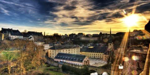 Sunset Over Neumünster Abbey, Luxembourg