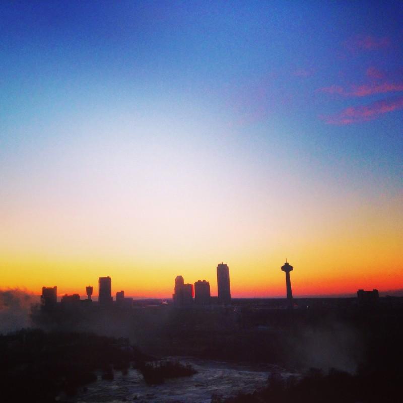 Sunset Over Niagara Falls from The Giacomo Hotel, New York