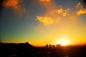 Sunset on Oahu, Hawaii