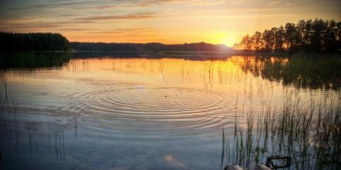 Sunset on Sea, Lithuania