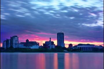 Sunset over Ottawa, Ontario, Canada