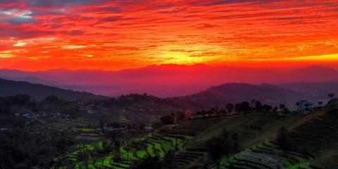Sunset Over Kathmandu Valley, Nepal