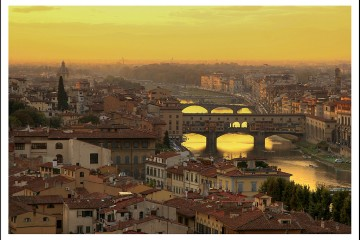 Sunset Over Santo Spirito, Florence