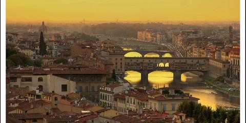 Sunset Over Santo Spirito, Florence