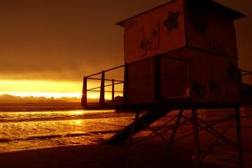 Sunset in Punta Carretas, Montevideo, Uruguay