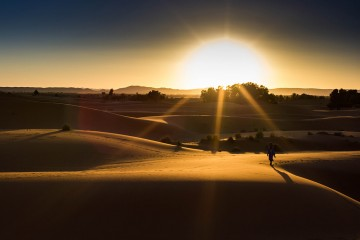 Sunset in the Sahara, Morocco