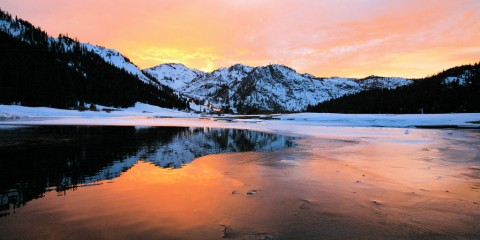 Sunset at Squaw Valley, Lake Tahoe, California