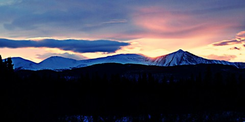 Sunset Over Swan Lake, Yukon