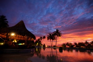 Tahitian sunset