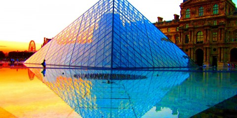 Sunset at the Louvre, Paris, France