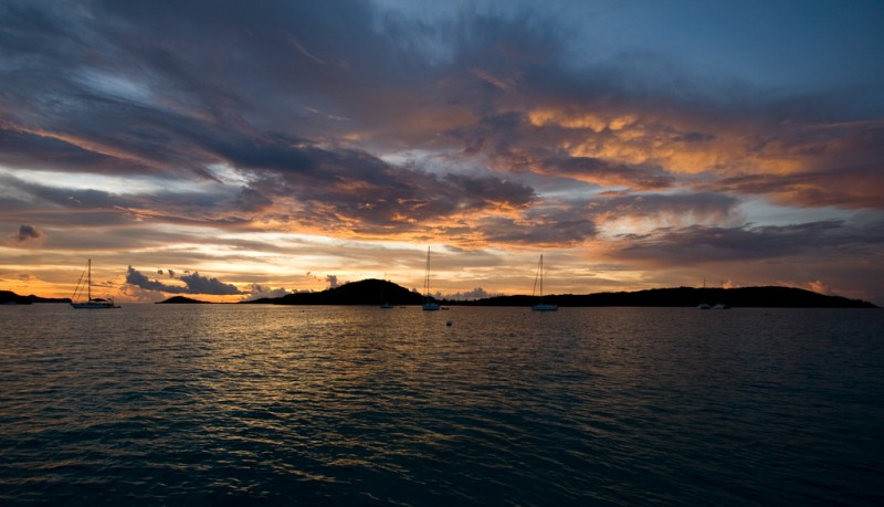 Sunset in the Tobago Cays