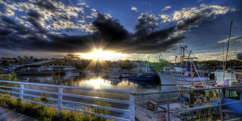 Sunset at Ulladulla Harbour, Australia