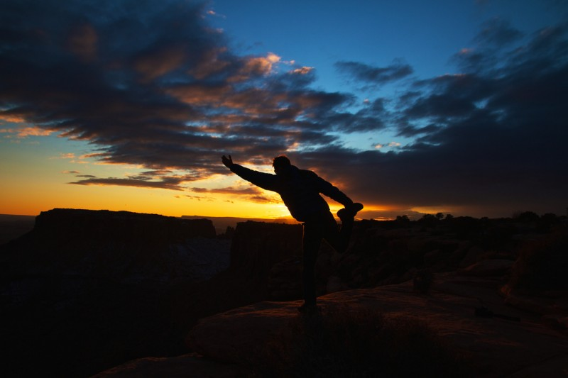 Sunset Yoga Guru, Moab, Utah