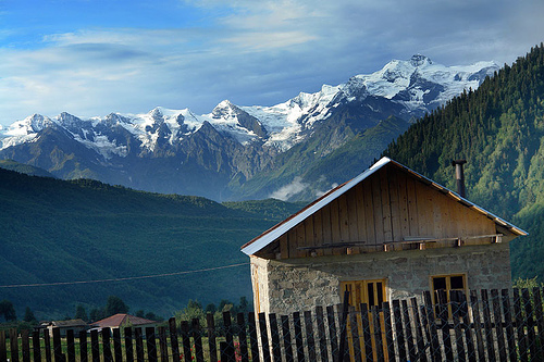 Mountainside Shack, Svaneti, Georgia
