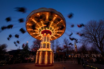 The Swing Carouel in Tivoli, Copenhagen