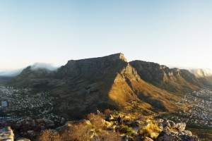 A View to Table Mountain, South Africa