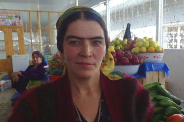 Woman with Unibrow, Tajikistan