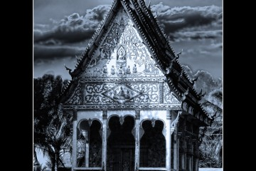 Temple Under the Moon in Luang Prabang, Laos
