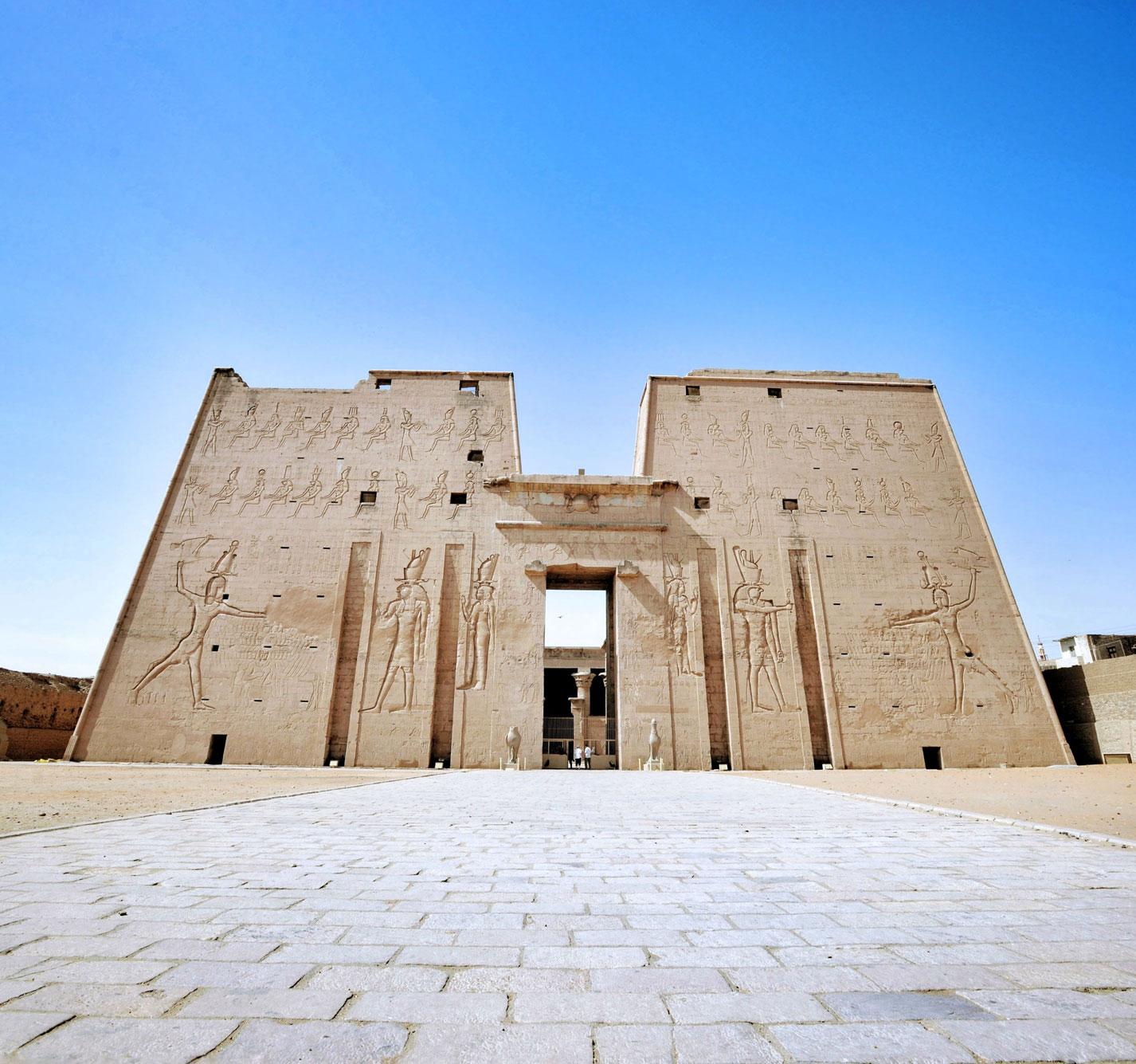 Entrance to the Temple of Horus at Edfu, Egypt