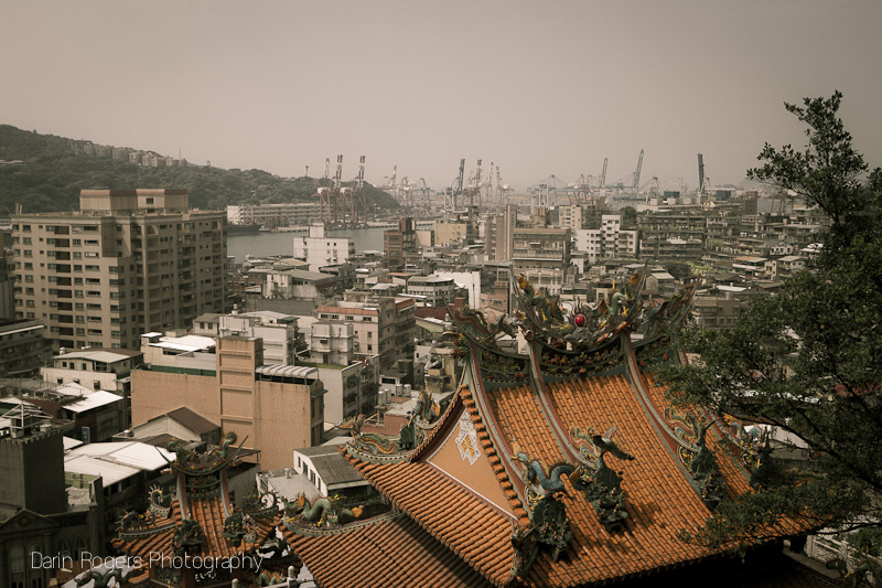 Temple and Shipyard, Keelung, Taiwan