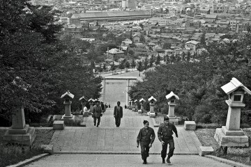 Temple Steps of Seoul, Korea (1945)