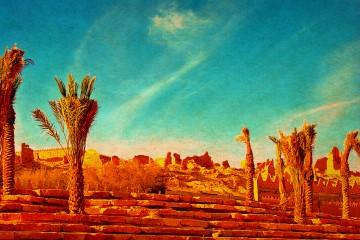 Desert ruins in Saudi Arabia
