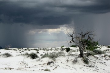 Thunderstorm Approaching White Sands, New Mexico