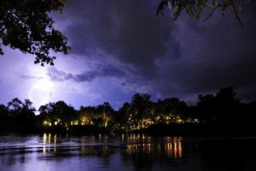 Thunderstorm on the River Kwai, Thailand