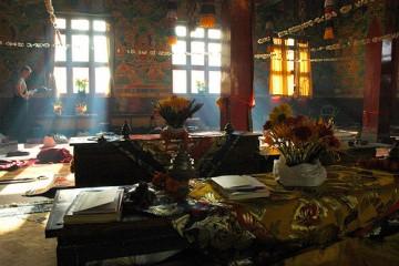 Inside a Tibetan Monastery, Nepal