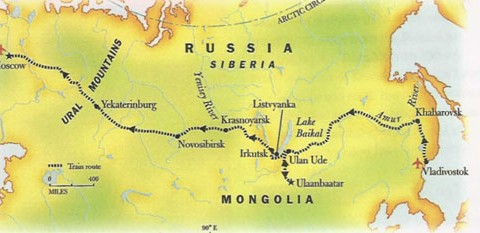Trans-Siberian Railway Map