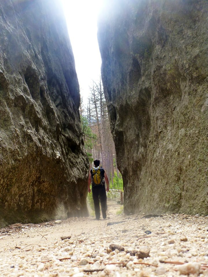 Travel blogger, Mike Richard, solo hiking in South Dakota