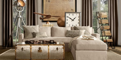 Travel-inspired Home Decor (Restoration Hardware)