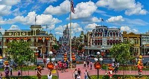 Magic Kingdom Panorama, Orlando, Florida (panorama)