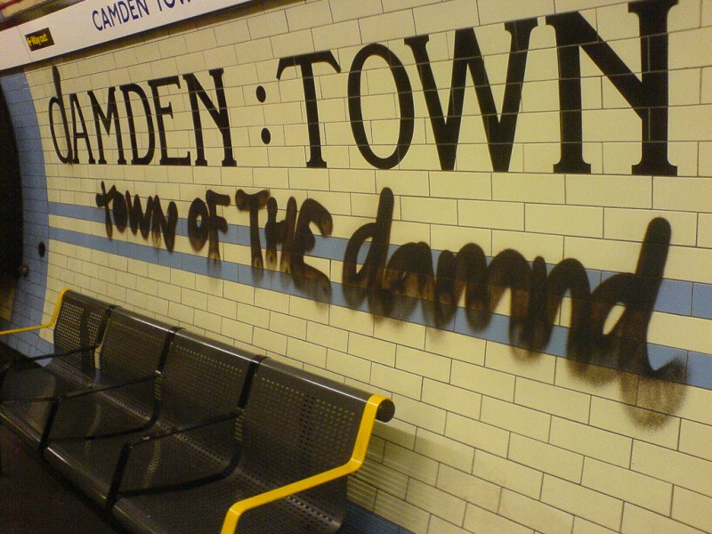 Tube Graffiti in Camden, London