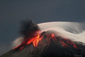 Tungurahua Volcano Erupts