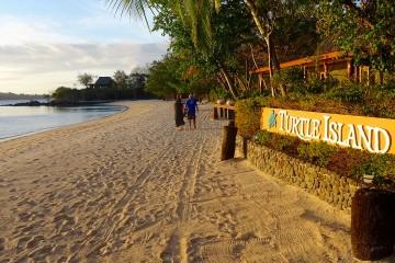 Sign at Turtle Island, Fiji