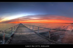 Twilight Over Larg's Bay Jetty, Adelaide, Australia