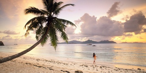 Twilight Paradise at La Digue, Seychelles