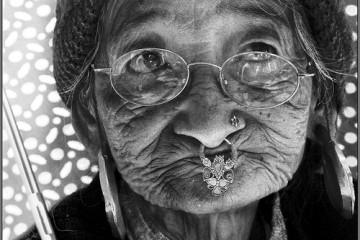 The Old Umbrella Lady at Ravangla Market, Sikkim