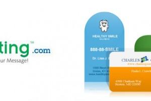 UPrinting.com Die-Cut Business Cards