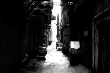 Alley in Hong Kong (B&W)