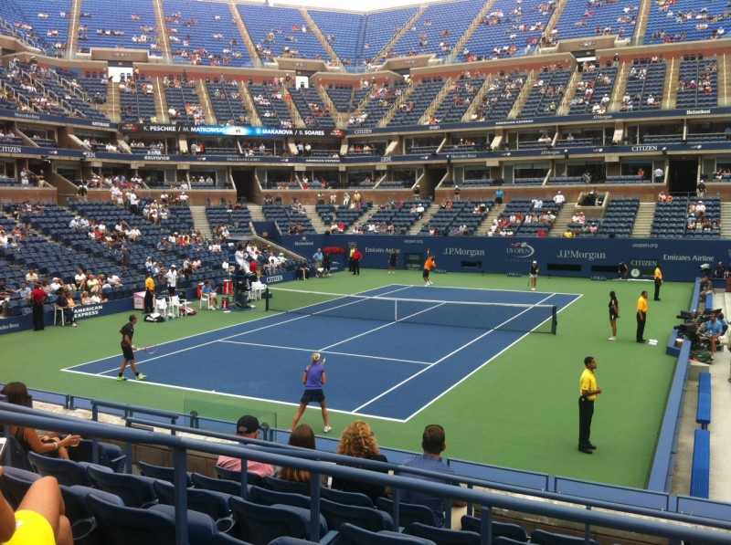 Tennis Serve, Mixed Doubles Match, US Open 2012