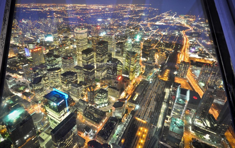 View from CN Tower, Toronto, Canada