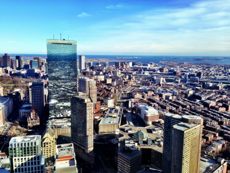 View from Skywalk Observatory at Boston's Prudential Center